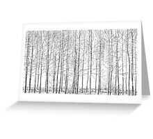 Delicate dashed lines Greeting Card