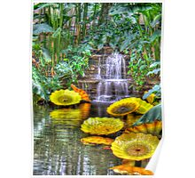 Blown Glass Reflections Poster