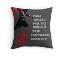 Thor in The Avengers Throw Pillow