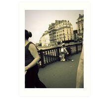 Parisian streets Art Print