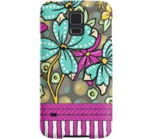 Floral Dreamweaver Pattern Turquoise and Pink Samsung Galaxy Case/Skin