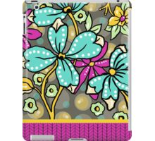 Floral Dreamweaver Pattern Turquoise and Pink iPad Case/Skin