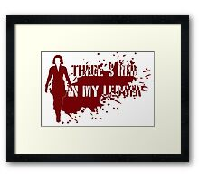 There's red in my ledger Framed Print