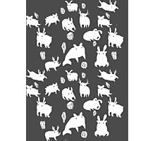 Weebeasts (white) Photographic Print