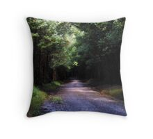 travelling a mysterious road Throw Pillow
