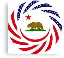 Californian Murican Patriot Flag Series Canvas Print