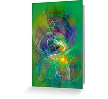 Foliage - colorful digital abstract art by Gordan P. Junior Greeting Card