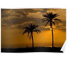 Sunset at Jamuna River Poster