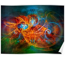 First Flight - colorful digital abstract art by Gordan P. Junior Poster