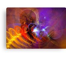 Feather in the wind - colorful digital abstract art by Gordan P. Junior Canvas Print
