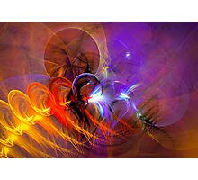Feather in the wind - colorful digital abstract art by Gordan P. Junior Photographic Print
