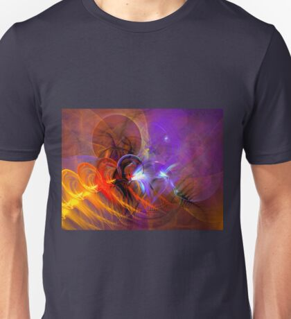 Feather in the wind - colorful digital abstract art by Gordan P. Junior Unisex T-Shirt