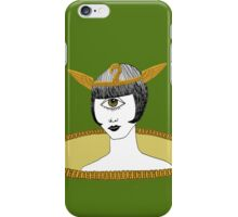 Cyclops Louise Brooks as Egyptian Valkyrie with All-Seeing Eye iPhone Case/Skin