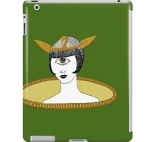 Cyclops Louise Brooks as Egyptian Valkyrie with All-Seeing Eye iPad Case/Skin