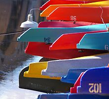Colorful Kayaks by Eric G Brown