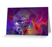 Friday Night - colorful digital abstract art by Gordan P. Junior Greeting Card