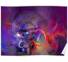 Friday Night - colorful digital abstract art by Gordan P. Junior Poster