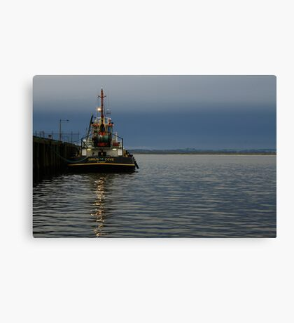 Sirius Cove moored at Stanley Ddock far nor west Tasmania , Australia Canvas Print