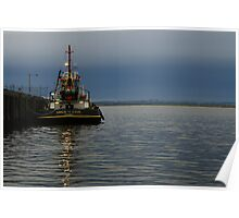 Sirius Cove moored at Stanley Ddock far nor west Tasmania , Australia Poster