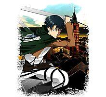 Levi Attack on Titan Shingeki No Kyojin Shirt Photographic Print