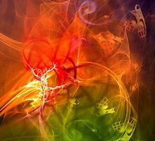 Horseman - colorful digital abstract art by Gordan P. Junior by gp-art