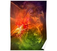 Horseman - colorful digital abstract art by Gordan P. Junior Poster