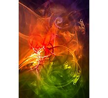 Horseman - colorful digital abstract art by Gordan P. Junior Photographic Print