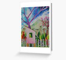 Pink Poui Parlour Greeting Card