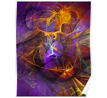 Inspiration - colorful digital abstract art by Gordan P. Junior Poster