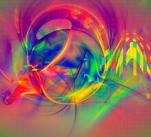 1985 - colorful digital abstract art by Gordan P. Junior by gp-art