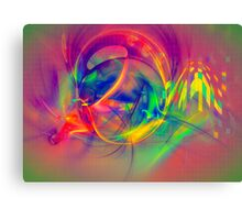 1985 - colorful digital abstract art by Gordan P. Junior Canvas Print