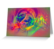 1985 - colorful digital abstract art by Gordan P. Junior Greeting Card