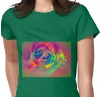 1985 - colorful digital abstract art by Gordan P. Junior Womens Fitted T-Shirt