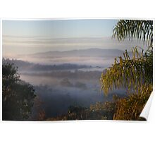Morning across the valley Poster
