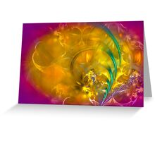 Garden of dreams - colorful digital abstract art by Gordan P. Junior Greeting Card