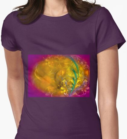 Garden of dreams - colorful digital abstract art by Gordan P. Junior Womens Fitted T-Shirt