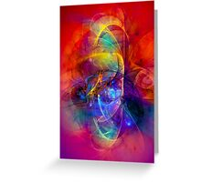 Gladiator - colorful digital abstract art by Gordan P. Junior Greeting Card