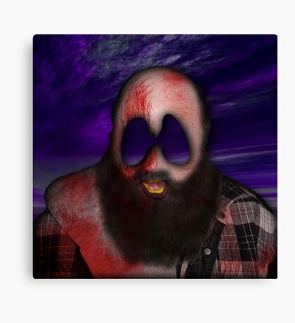 Crazy Scary Bum Canvas Print