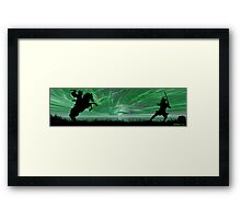 Dueling Samurai Framed Print