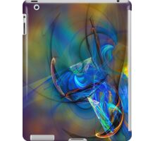 Grasshopper - colorful digital abstract art by Gordan P. Junior iPad Case/Skin