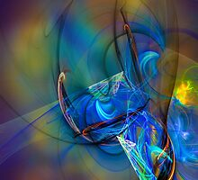 Grasshopper - colorful digital abstract art by Gordan P. Junior by gp-art