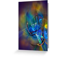 Grasshopper - colorful digital abstract art by Gordan P. Junior Greeting Card