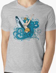 Fatal Wave Mens V-Neck T-Shirt