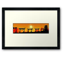 Path to the Forgotten Temple Framed Print