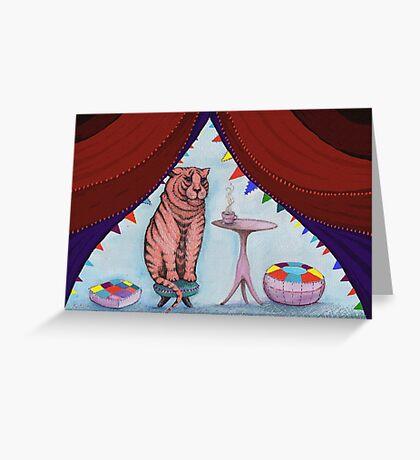 tigers do drink tea Greeting Card