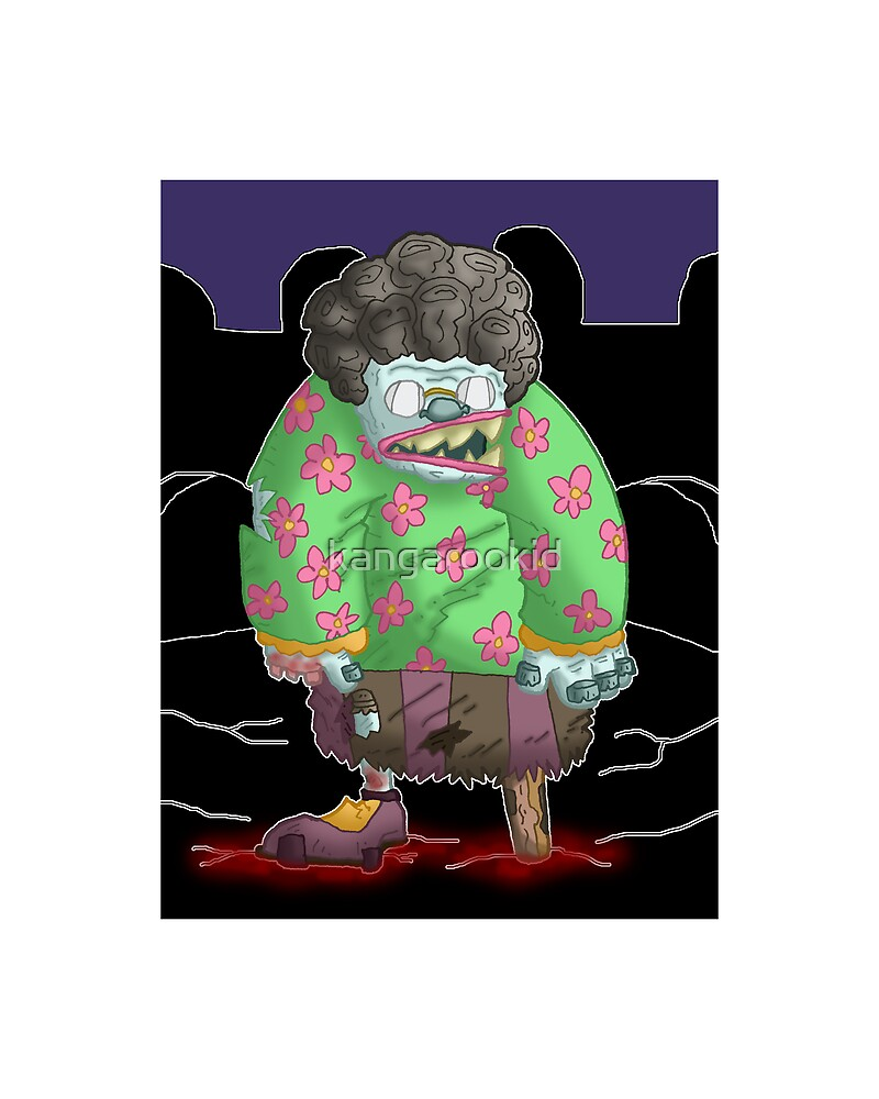 grandma got turned into a zombie... by kangarookid