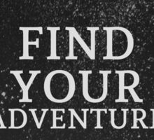 Find Your Adventure Chalkboard Wreath Typography Quote Inspirational Art Print Sticker
