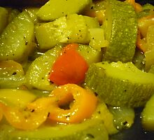 Sauteed Fresh Veggies And Spices by Bea Godbee