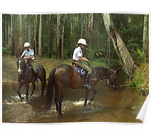 Victoria Policewomen on duty at Noojee Horse Festival, Gippsland Poster