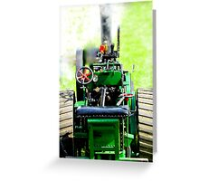 small scale steam Greeting Card